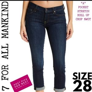 7 For All Mankind Jeans Size 28 Crop NWOT